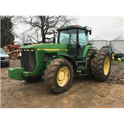 1997 JOHN DEERE 8400 FARM TRACTOR VIN/SN:012036 - MFWD, FRONT WEIGHTS, QUICK HITCH, (4) REMOTES, REA