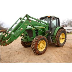 2012 JOHN DEERE 7230 FARM TRACTOR VIN/SN:701765 - MFWD, JD H360. FRONT LOADER, POWER QUAD, 460/85R38