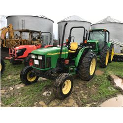 JOHN DEERE 5220 FARM TRACTOR  S/N 322536, (2) remote, sync shuttle, roll bar