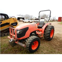 KUBOTA MX5100 FARM TRACTOR; VIN/SN:156501 --MFWD, ROLL BAR