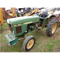 JOHN DEERE 850 FARM TRACTOR; VIN/SN:19580 --3,326 HOURS