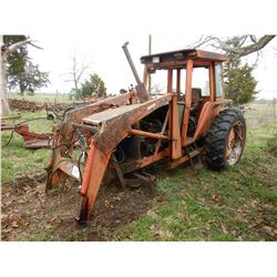 ALLIS CHALMERS 6080 FARM TRACTOR; VIN/SN:4381 --(2) REMOTES, FRONT LOADER ATTACH