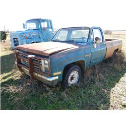CHEVROLET CUSTOM DELUXE 2 PICKUP TRUCK --GAS ENGINE, 4 SPEED TRANS (BILL OF SALE ONLY)
