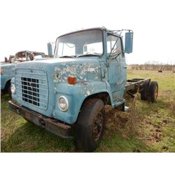 FORD 7000 CAB & CHASSIS TRUCK; VIN/SN:H7EVA29810 --S/A, GAS ENGINE, 5&2 SPEED TRANS (BILL OF SALE ON