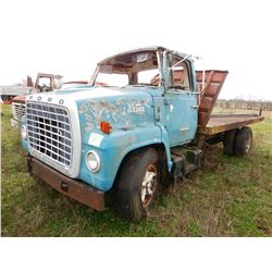 FORD 7000 FLATBED TRUCK; VIN/SN:UVHA9280 --S/A, CAT 3208 DIESEL ENGINE, 5&2 SPEED TRANS, GVWR 21K LB