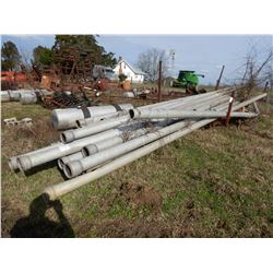 6'' ALUMINUM IRRIGATION PIPE, COMES WITH S/A TRAILER
