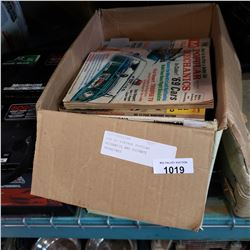 BOX OF VINTAGE POPULAR MECHANICS AND SCIENCE MAGAZINES