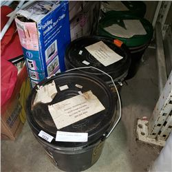 4 PAILS OF HARDWOOD ADHESIVE