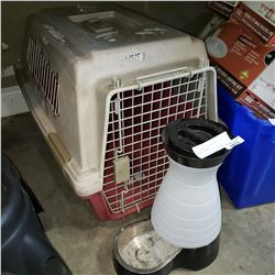 PET CARRIER AND AUTOMATIC PET WATER FEEDER