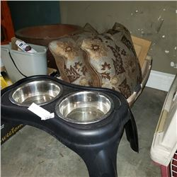 PET CARRIER, PILLOWS, AND PET BOWL FEEDER
