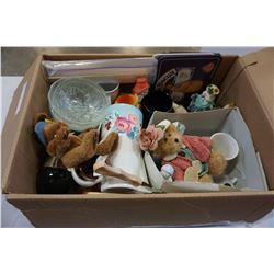 2 BOXES OF ESTATE CRYSTAL, CHINA ETC