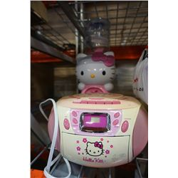 HELLO KITTY CD PLAYER AND WATER DISPENSER
