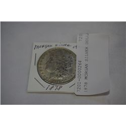 1878 MORGAN SILVER DOLLAR UNATHENTICATED  ATTRACTED TO MAGNET