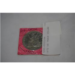 1872 US TRADE DOLLAR UNATHENTICATED MAGNETIC