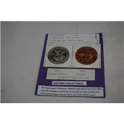 WILDWOOD ELKS 1991 NICKEL SILVER AND 2000 COPPER TRADE COINS