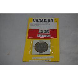 1936 CANADIAN SILVER DOLLAR - SCARCER DATE