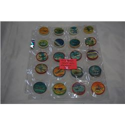 20 DIFFERENT 1960s JELLO AIRPLANE COINS