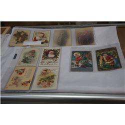 LOT OF EARLY 19000 CHRISTMAS CARDS