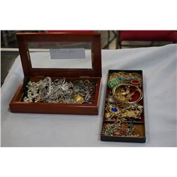 2 BOXES OF ESTATE JEWELLRY