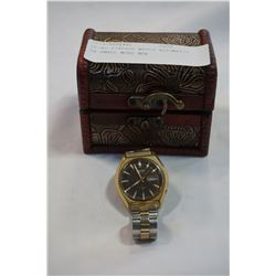 SEIKO VINTAGE WATCH AUTOMATIC IN SMALL WOOD BOX