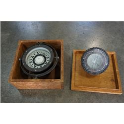 LOT OF 2 VINTAGE COMPASS FROM BOAT AND PLANE
