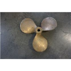 SMALL BRASS BOAT PROPELLOR