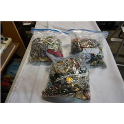 3 LARGE BAGS OF JEWELLRY