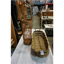 TWO LARGE COLLECTIBLE BASKETS