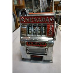 NEVADA SLOT MACHINE COIN BANK