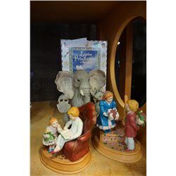 4 FIGURES, ELEPHANT, KIDS, BUNNY