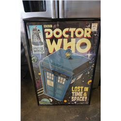 DR. WHO LARGE POSTER IN FRAME