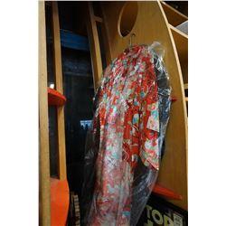 JAPANESE KIMONO AND BLACK MANDARIN DRESSING COAT SIZE 16