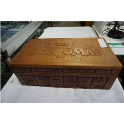 DON THOMAS WOOD CARVED CIGAR BOX