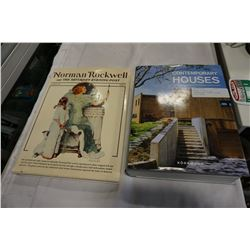NORMAN ROCKWELL AND CONTEMPORARY HOUSES COFFEE TABLE BOOKS