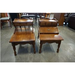2 ATHENS HOME DECOR STEP END TABLES