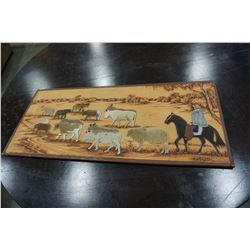 ANIMAL HIDE CUT OUT PICTURE