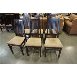 LOT OF 6 DINING CHAIRS
