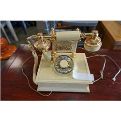 VINTAGE BEIGE FRENCH ROTATRY PHONE