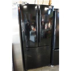 BLACK SAMSUNG FRENCH DOOR FRIDGE TESTED AND WORKING GUARANTEED