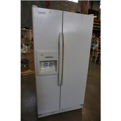 WHITE KENMORE FRIDGE W/ WATER AND ICE DISPENSER