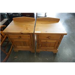 PAIR OF PINE 1 DRAWER NIGHT STANDS
