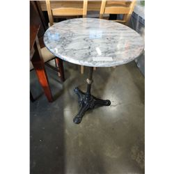 MARBLE AND IRON BISTRO TABLE