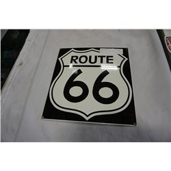 "PORCELAIN ROUTE 66 18"" BY 18"" SIGN"