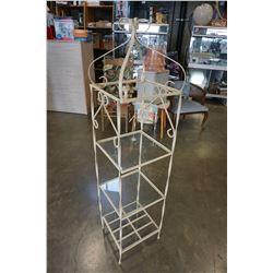 3 TIER GLASS AND METAL SHELF