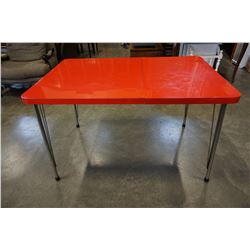 RETRO RED DINING TABLE W/ LEAF