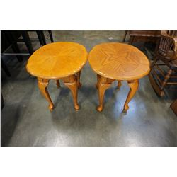 PAIR OF FRENCH PROVINCIAL END TABLES