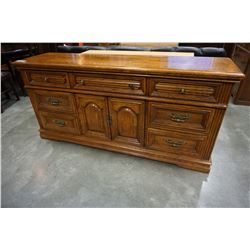 7 DRAWER WALNUT DRESSER W/ MIRROR
