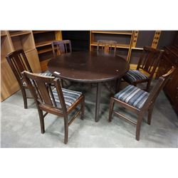 ROUND DINING TABLE W/ 6 CHAIRS