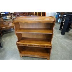 ATHENS HOME DECOR WALNUT BOOKSHELF