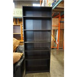 7FT BLACK BOOKSHELF